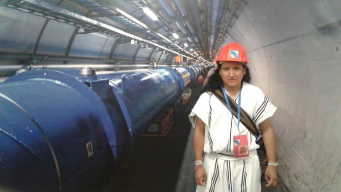 Teyrungūmū Torres Zalabata en el CERN