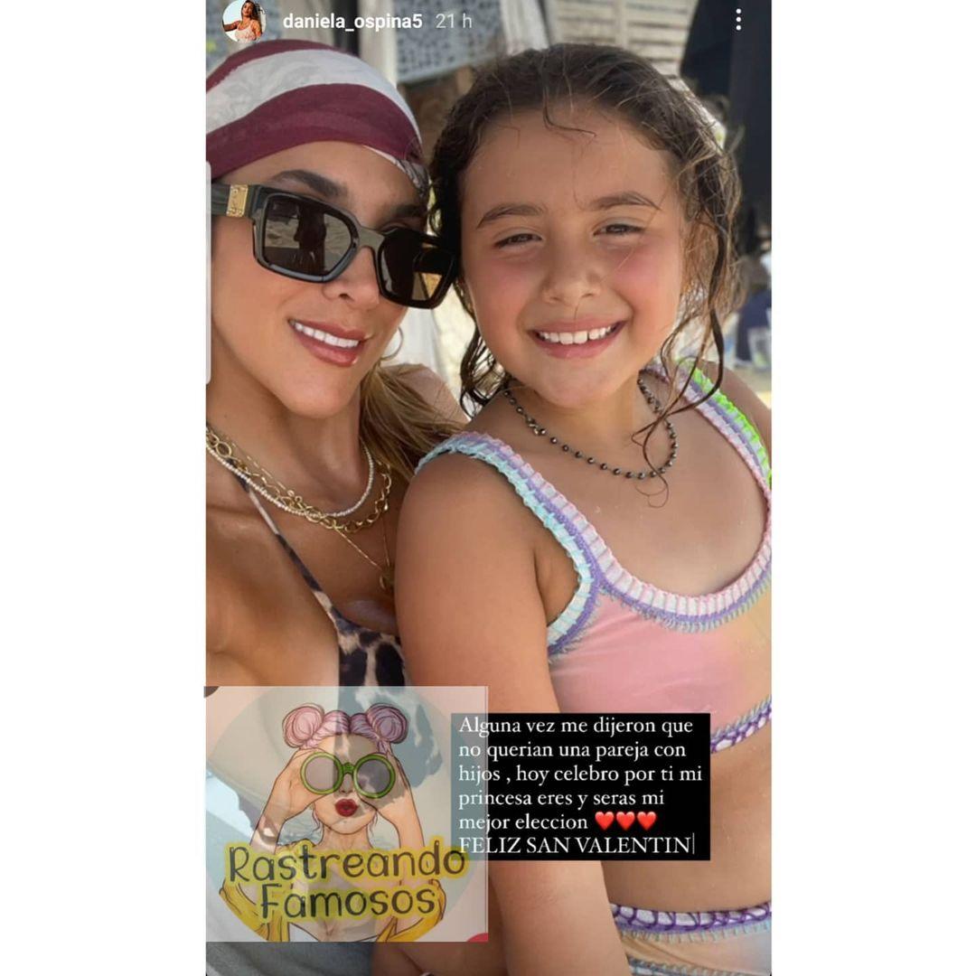 Daniela Ospina y su hija Salomé.