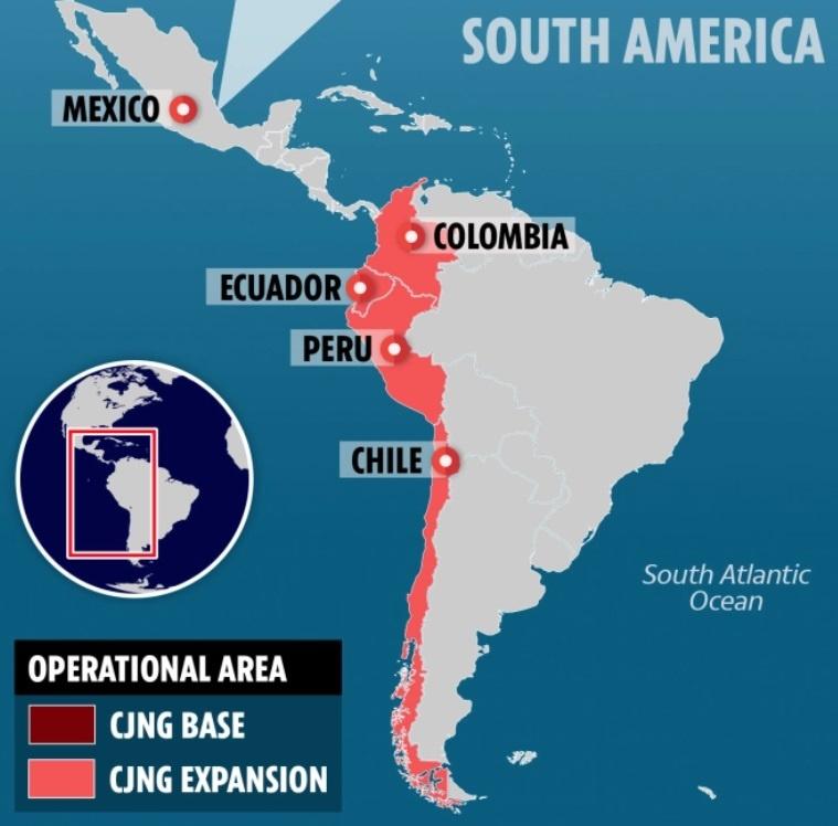 El Mencho también opera en Colombia