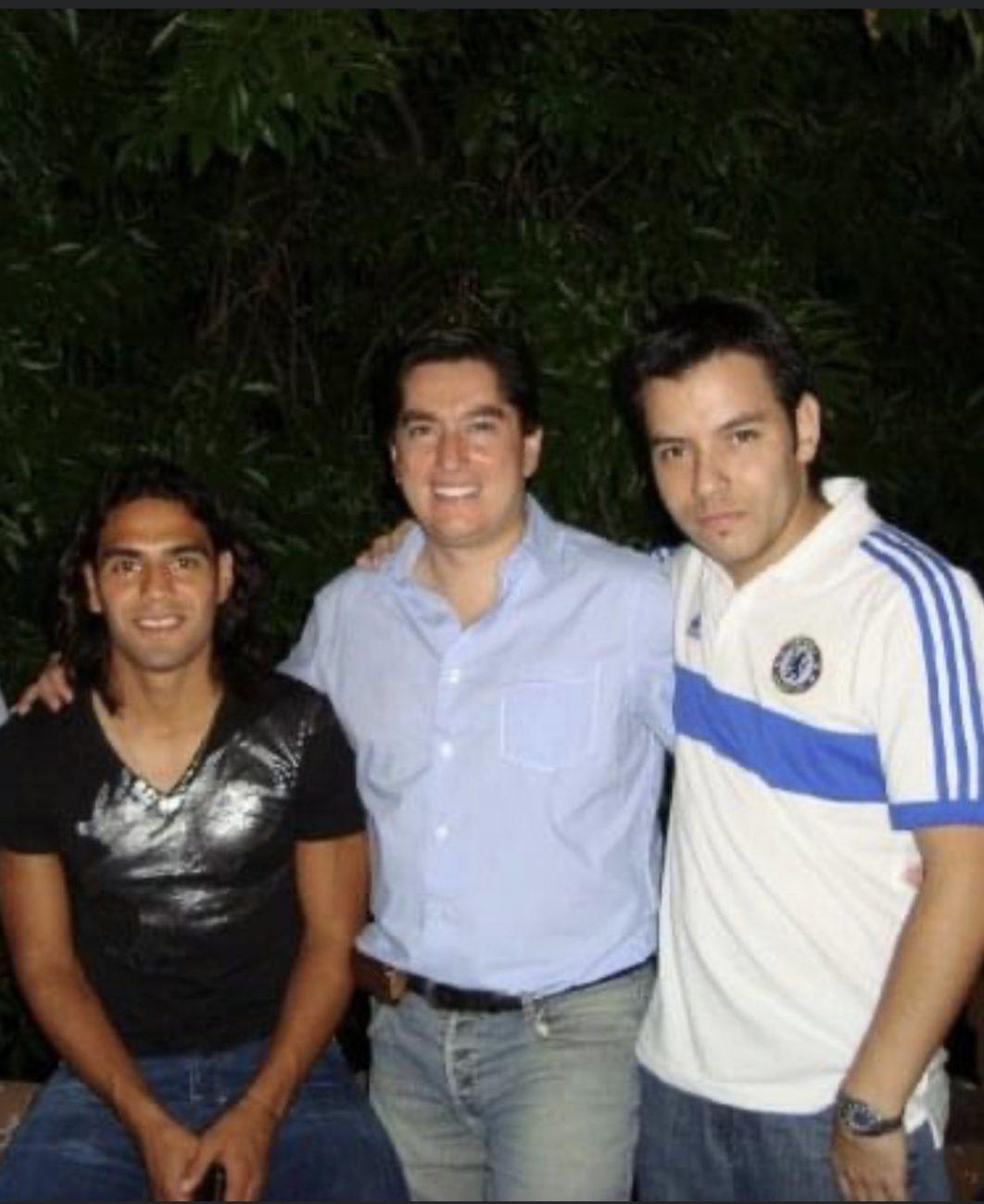 Falcao, Tito Puccetti y Daniel Pérez cuando trabajaban en ESPN