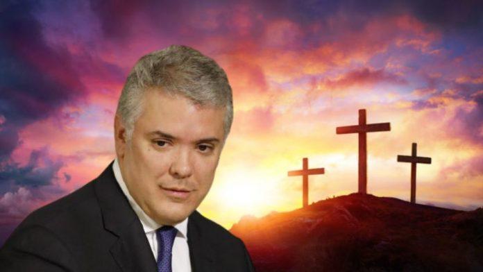 Iván Duque y la oración por las vacunas que llegaran a Colombia contra la covid-19