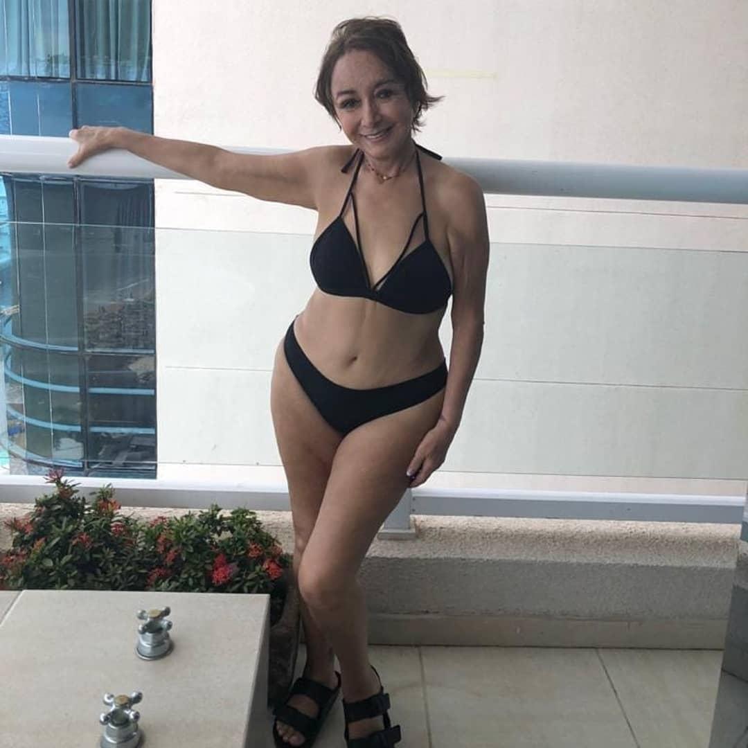 María Antonieta de las Nieves, actriz que interpretó a la 'Chilindrina', bikini