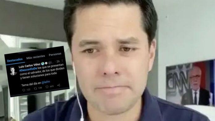 Luis Carlos Vélez es tendecia en Twitter por mal periodismo