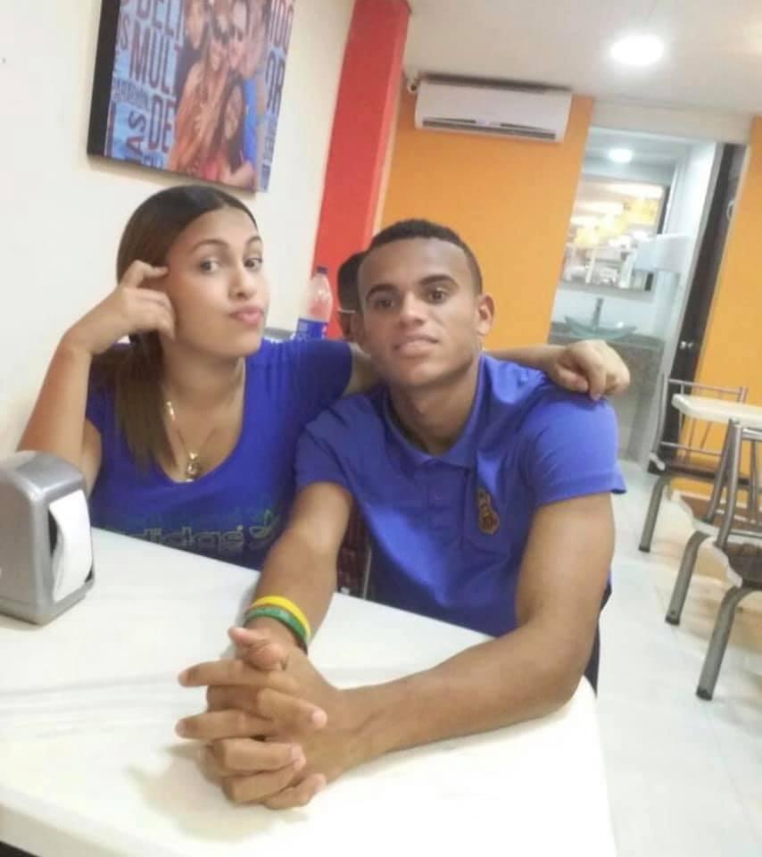 Luis Díaz y Gera Ponce al comienzo de sus amores