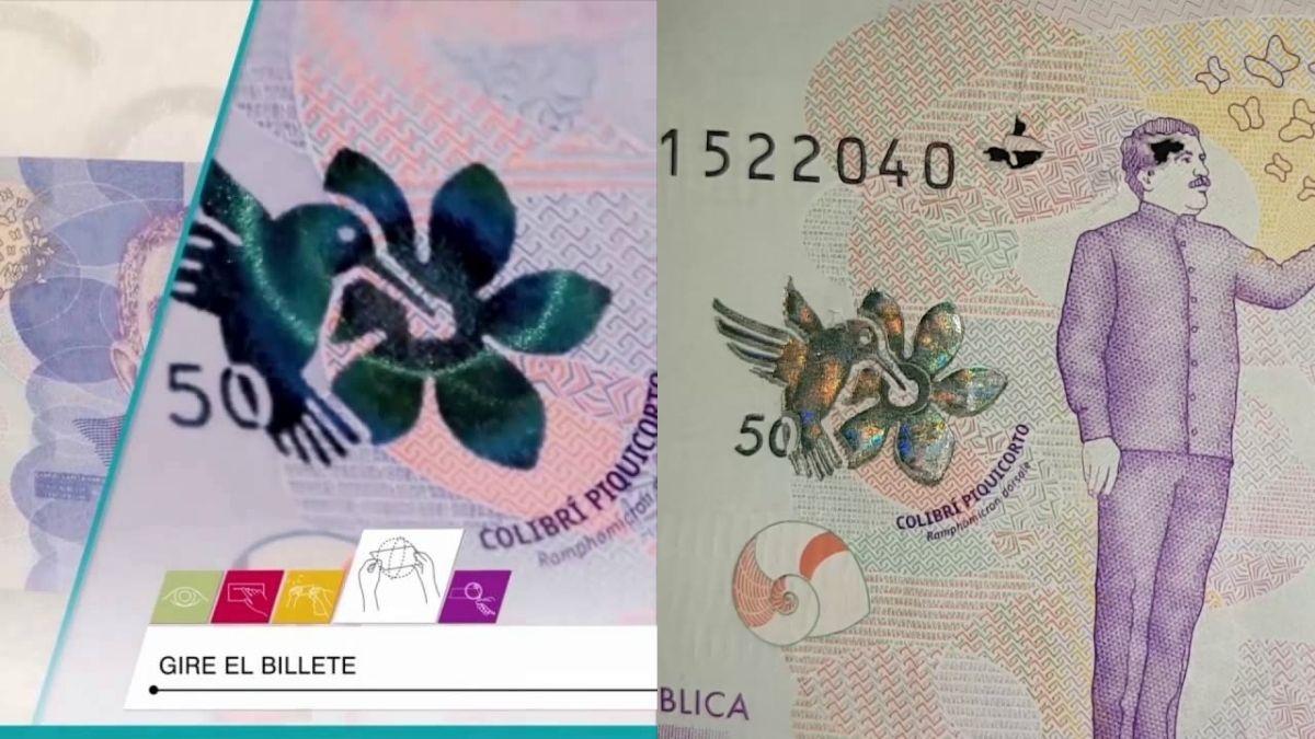 Ojo con los billetes falsos, están falsificando los de 50.000
