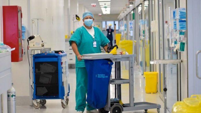 Personal de aseo de hospitales