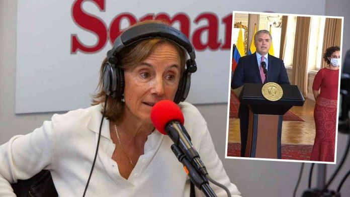 Salud Hernández arremete contra Iván Duque.