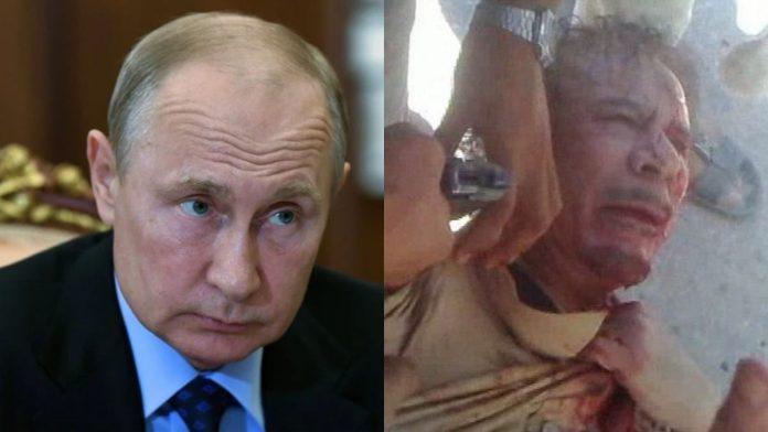 VLADIMIR Putin está aterrorizado de ser asesinado como el tirano libio Gaddafi