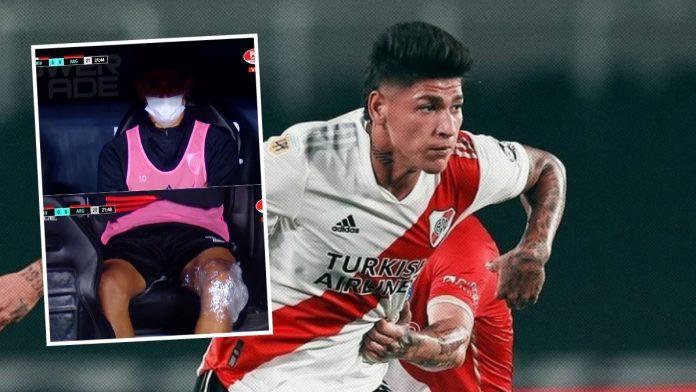 Alerta en River por lesión de Jorge Carrascal antes del superclásico