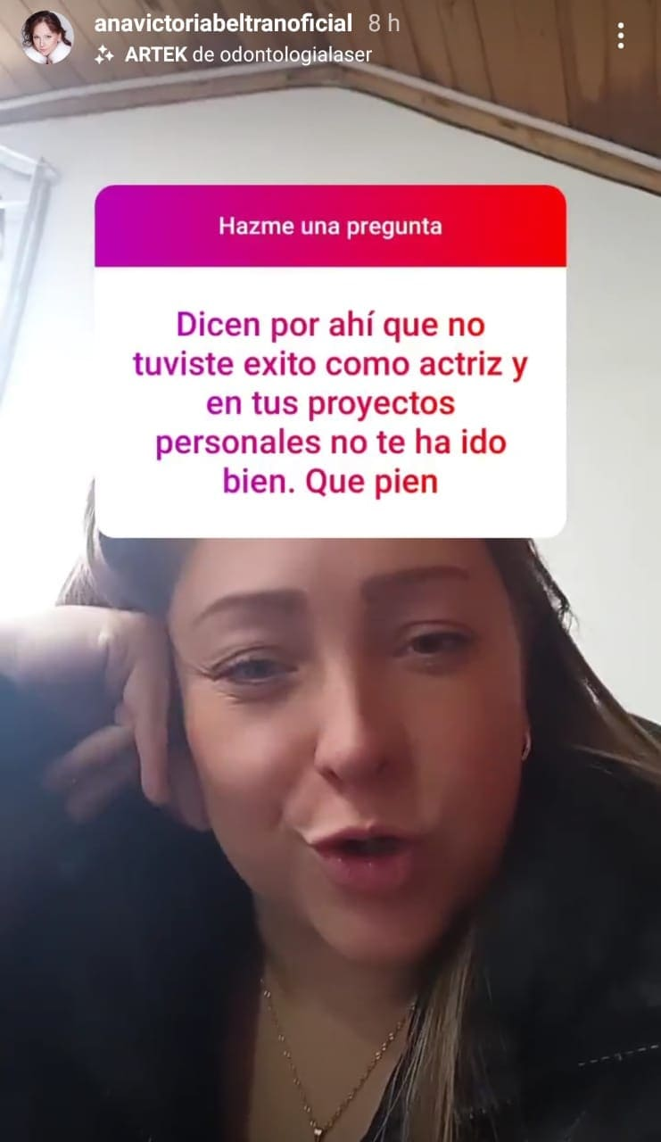Ana Victoria Beltrán responde en Instagram
