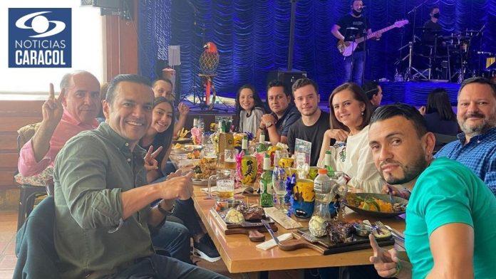 Críticas contra Juan Diego Alvira y el equipo de Noticias Caracol por violar el distanciamento social