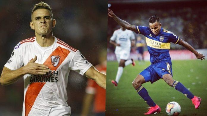 Duelo de colombianos en el superclasico argentino