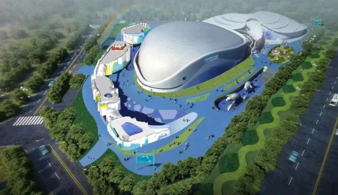 El edificio principal de la 'Tierra Polar de Harbin', en la ciudad de Harbin. Crédito: AsiaWire.