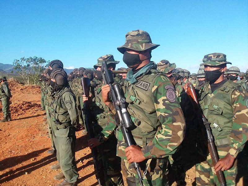 El grupo FAND de Venezuela se encuentra en zona de frontera.