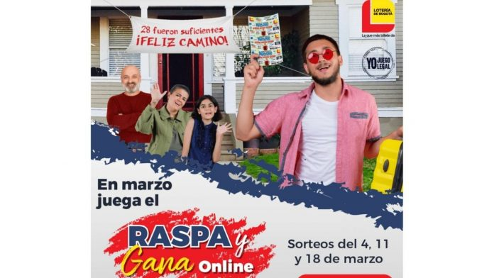 El último raspa y gana de marzo de la Lotería de Bogotá