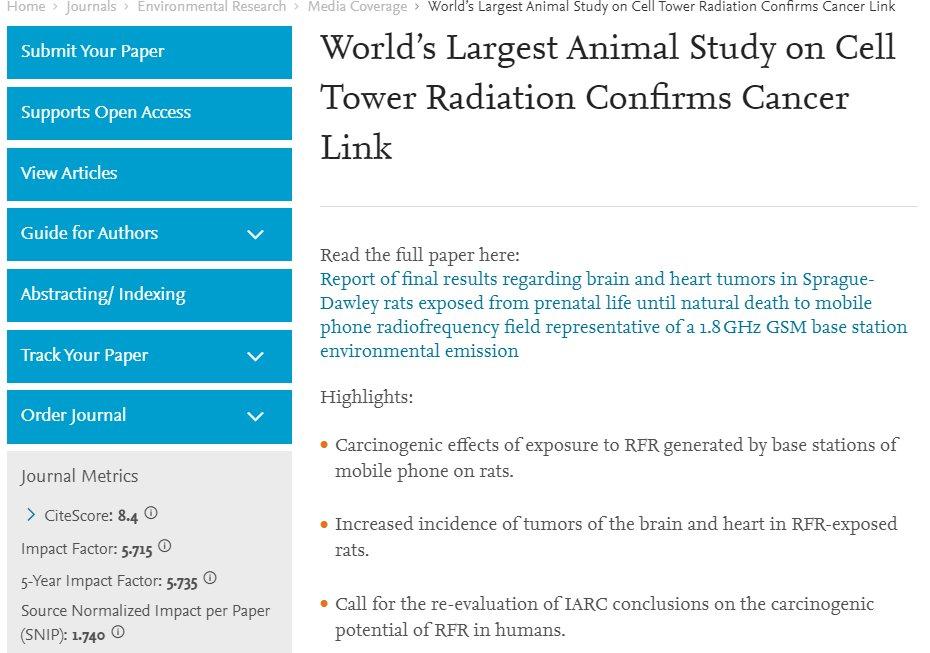 Estudio radiacion de antenas cáncer