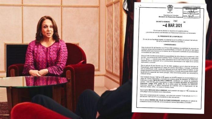 Exembajadora de Colombia ante la ONU, Adriana del Rosario Mendoza Agudelo fue denunciada por el joven diplomático