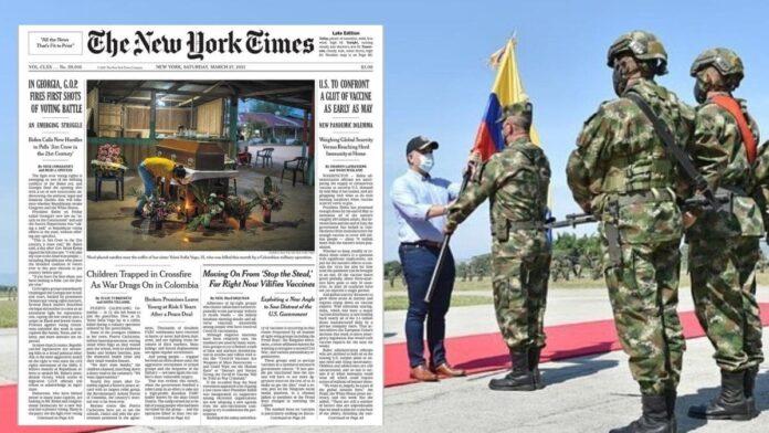 Iván Duque exalta a Colombia por sus operativos militares que violan los derechos humanos