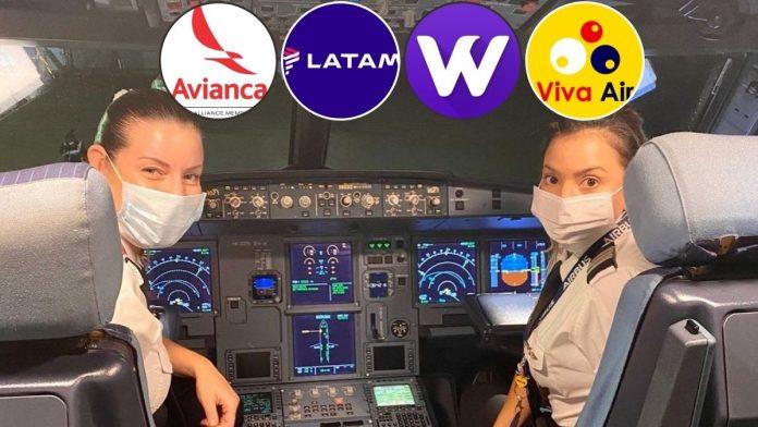 Los aviones de las aerolineas que operan en Colombia