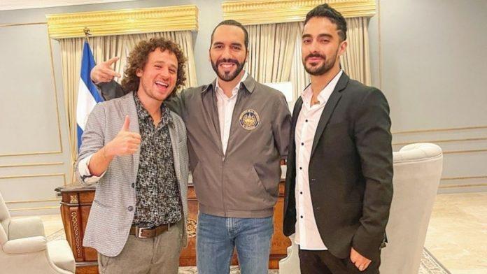Nayib Bukele, Luisito Comunica y Juan Bertheau