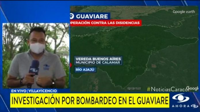 Noticias Caracol en la primera edición mostró el operativo que molestó a los uribistas