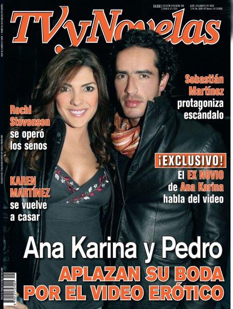 Portada de TV Y Novelas sobre Ana Karina Soto y Pedro Palacio