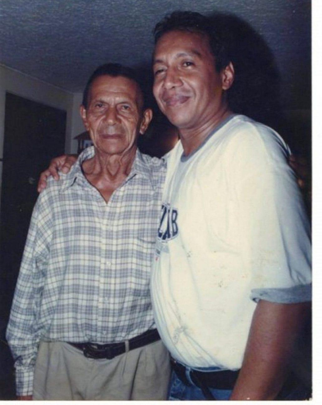 Rafael María Díaz y su hijo Diomedes Díaz