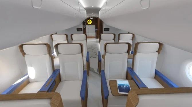 20 asientos de clase ejecutiva a bordo del jet que podrían estar en servicio en 2030 Crédito Zuma Press
