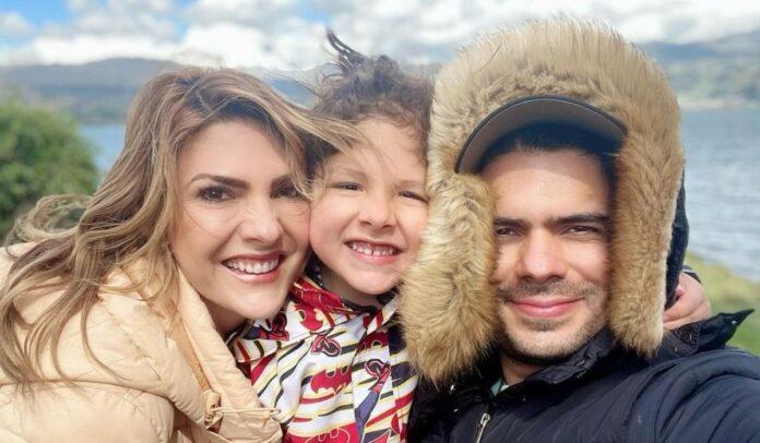 Ana Karina Soto y su familia en Domos del Lago
