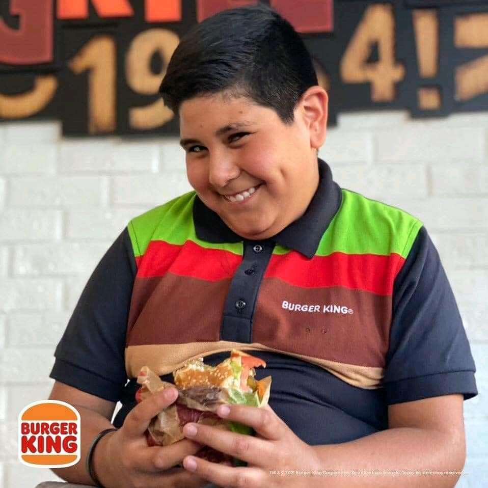 Burger King contrató al niño Oxxo