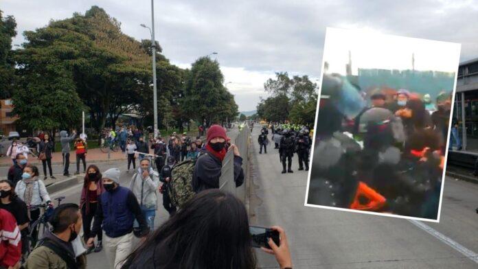Denuncian agresiones del ESMAD en Bogotá