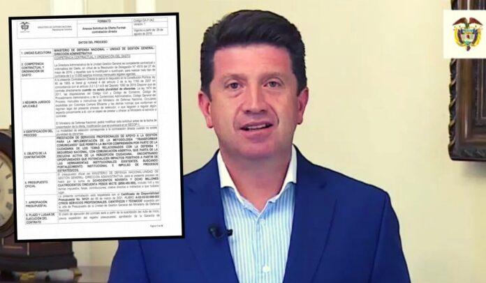 Diego Molano llegó al Ministerio haciendo contratos con sus amigos