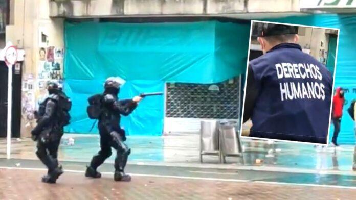 ESMAD dispara contra manifestante