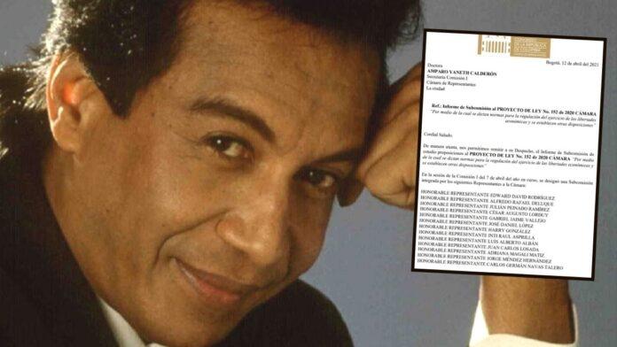 Familia de Diomedes Díaz contra proyecto de ley