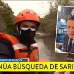 Juan Diego Alvira se lanzó al río