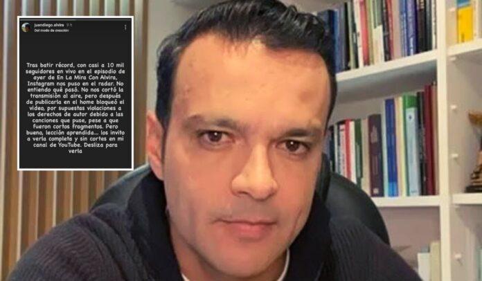 Juan Diego Alvira se molestó con Instagram