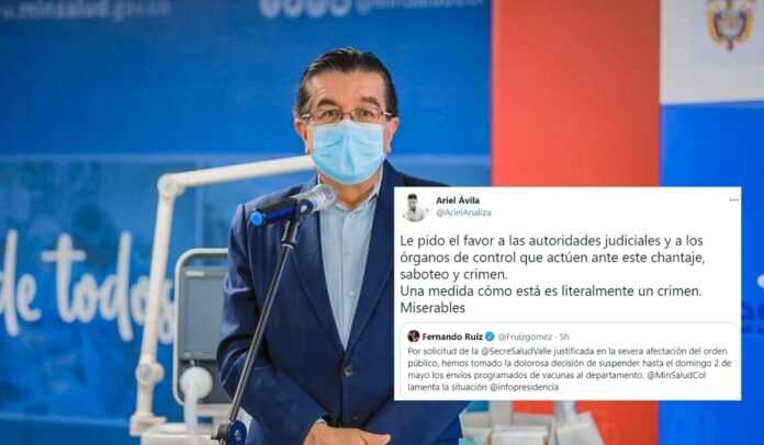Los chantajes de Fernando Ruiz contra la población del Valle del Cauca