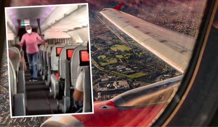 Protesta contra la reforma tributaria en vía aérea