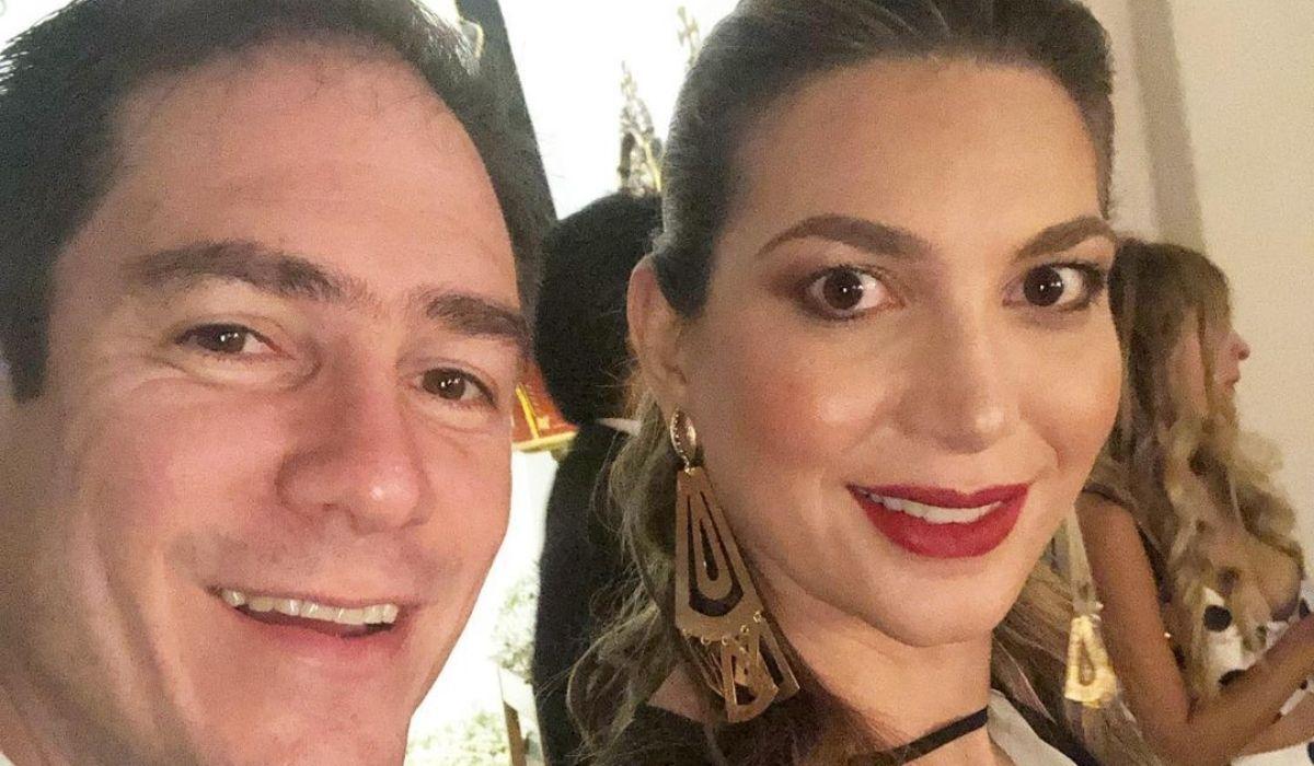 Ruby Chagüi y su esposo Nicolás Saade