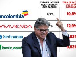 Wilson Arias denuncia a los bancos colombianos