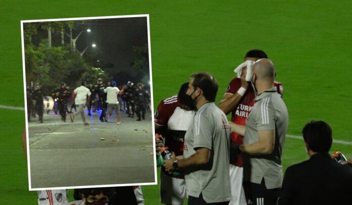 A pesar de protestas, el juego por Copa Libertadores finalizó con un empate