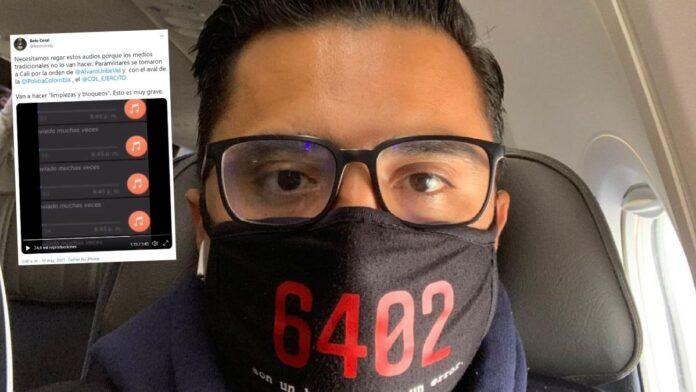 Beto Coral revela audios de paramilitares en Cali