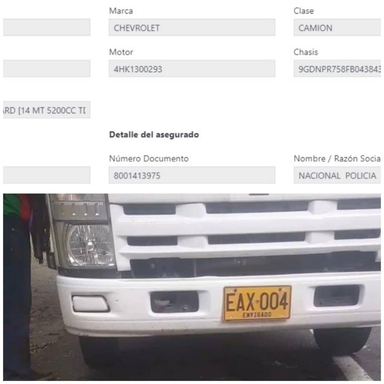 Camión de la Policía al servicio de los narcotráficantes