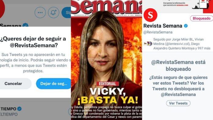 Campaña en Twitter contra Revista Semana