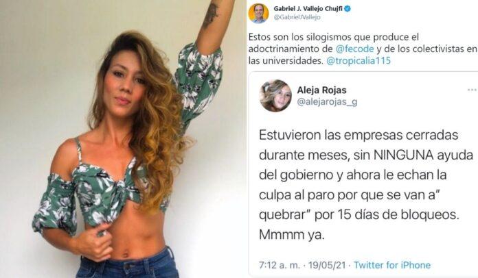 Congresista Gabriel Vallejo le pone lapida a Aleja Rojas
