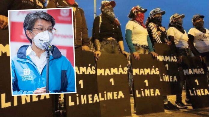 Culpan a Claudia López por agresión a mamás de primera línea en Bogotá