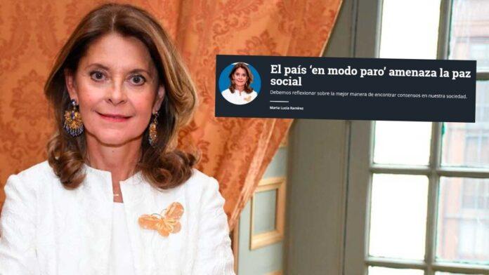 El artículo de Marta Lucía Ramírez