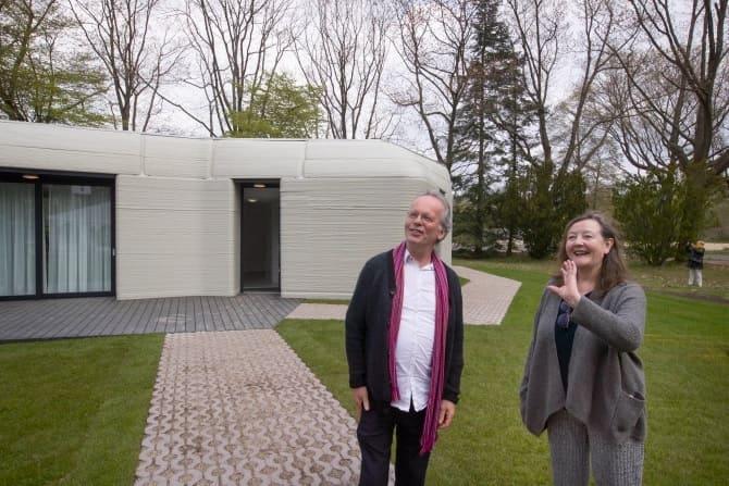 El nuevo hogar de Harrie Dekkers y Elize Lutz es un bungalow de dos dormitorios en Eindhoven. Crédito: AP.