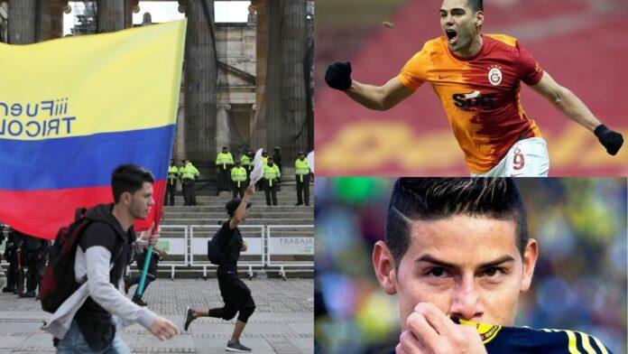 Falcao y James Rodríguez se pronunciaron sobre el paro nacional
