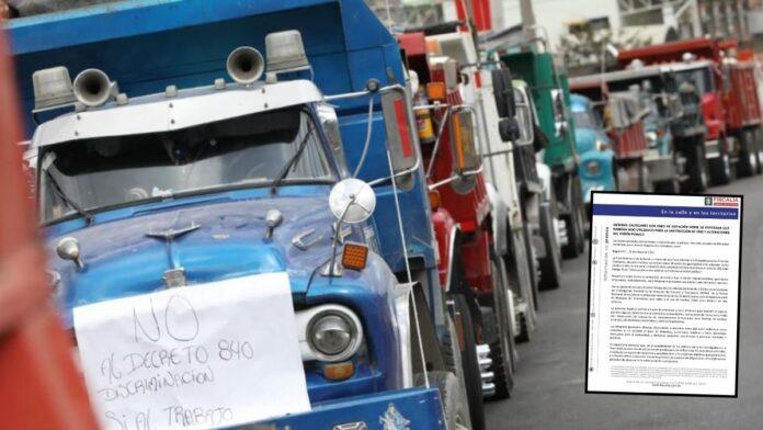 Fiscalía embarga vehículos en bloqueos